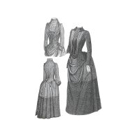 1889 Bordered Wool Dress with Jacket Pattern