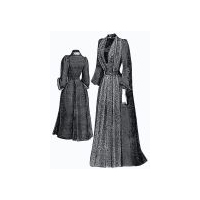 1889 Plum Colored Morning Gown Pattern