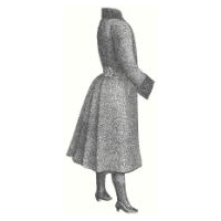 1889 Astrakhan Coat for Girl 12-14 Years Pattern