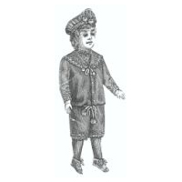 1889 Boy Doll Sailor Suit Pattern