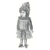 1889 French Doll's Costume Pattern