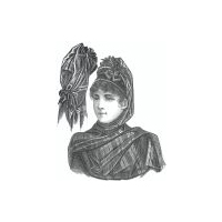 1889 Capote made of a Roman Scarf Pattern