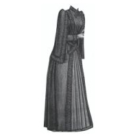 1889 Cloak with Overhanging Sleeves Pattern