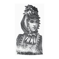 1889 French Flannel Evening Hood Pattern