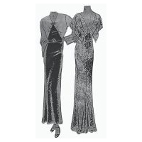1930's Evening, Dinner or Formal Afternoon Gown Pattern