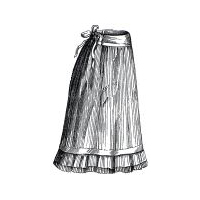 1879 Petticoat for Girl 12-14 Years Pattern