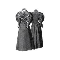 1894 Piqu� Gown with Waiter Jacket Pattern