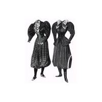 1894 2 Bicycle Costumes with Divided Skirt Pattern
