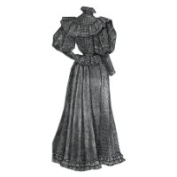 1894 Lawn Dress with Blouse Waist Pattern