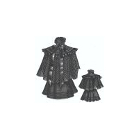 1894 Sleeveless Jacket w/Cape