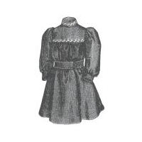 1894 Flannel Morning Frock for Child 1-2 Years Pattern