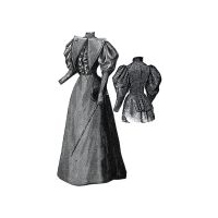 1894 Gray Walking or Traveling Costume