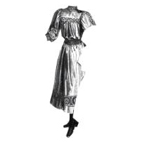 1894 �cru Linen Frock for Girl 11-13 Yrs