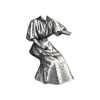 1894 Young Lady's Cotton Serge Dress