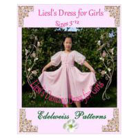Liesl's Dress for Girls Pattern - in Little Girls Sizes 3-12 � A Sound of Music Costume Sewing Pattern
