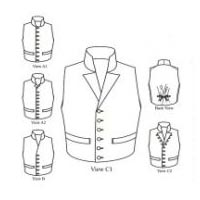 1790 - 1850 Single-Breasted Man's Waistcoats Pattern