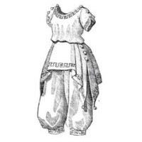 1870 - 1890 Grecian-style Bathing Dress Pattern