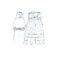 1838 Girl's Full Body Frock, Slip & Pinafore Pattern