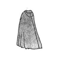 1770's Cloak with hood Pattern