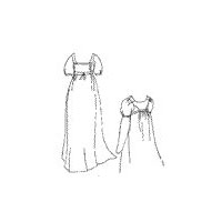 1800-1815 Bib Front Muslin Dress Pattern