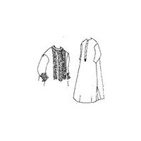 1860's Plain or Fancy Nightgown Pattern