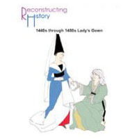1440s-1480s Lady's V-neck Gown Pattern by Reconstructing History