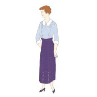 1910's Lady's Empire Costume Pattern by Reconstucting History