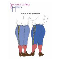 1630s Men's Breeches Pattern by Reconstructing History
