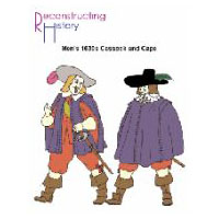 1630's Men's Cassock and Cape Pattern by Reconstructing History