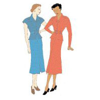 1930s 2-piece Day Dress Pattern