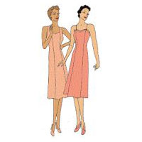 1930s Princess Seamed Slip Pattern