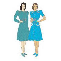 1940 One-Piece Dress Pattern