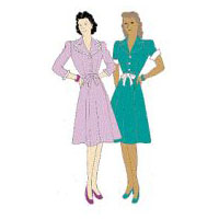 1941 One-Piece Dress Pattern
