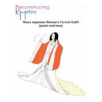 Heian Japanese Woman's Formal Outfit (Jacket and Train) Pattern
