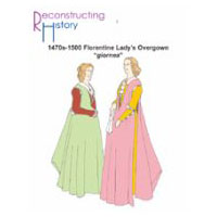 1470s-1500 Florentine Lady's Overgown Pattern