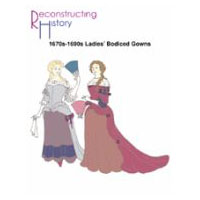 1670s-1690s Bodiced Gown Pattern