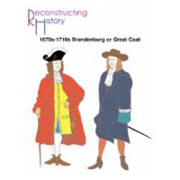 1670s-1710s Brandenburg or Great Coat Pattern