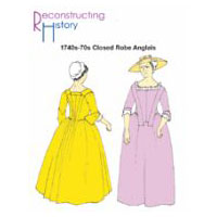 1740's - 1770's Closed Robe Anglais Pattern