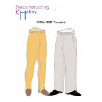 1830s-1900 Trousers Pattern