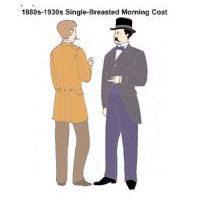 1880s-1930s Single-Breasted Morning Coat Pattern