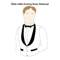 1850s-1900s Single-Breasted Evening Dress Waistcoat Pattern
