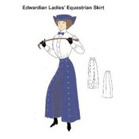 Edwardian Equestrian Split Skirt Pattern