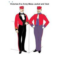 Victorian Army Mess Jacket and Vest Pattern