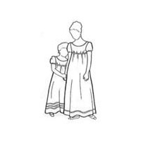 1810-1820 Girls High-Waisted Dress Pattern