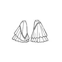 1898 Skirt with Flounces Pattern