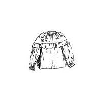 1780-1830 Woodland Indian Ladies Blouse Pattern