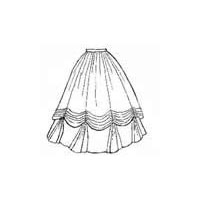 1860's Ball Gown Skirt Pattern