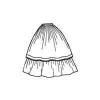 1859 Double Skirt Pattern