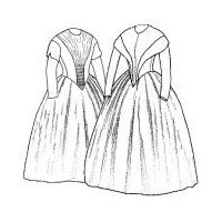 1845 German Day Dresses Pattern