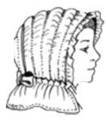 1800's Wadded Bonnet Pattern by Miller's Millinery